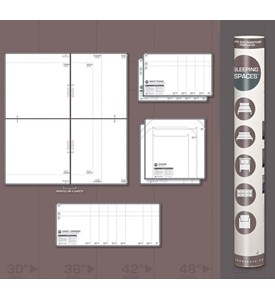 Life Size Furniture Templates - Bedroom Space Image