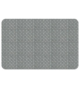 Garage Mat - Diamond Steel Pattern Image