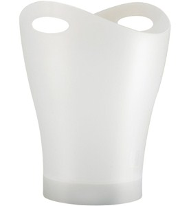 Garbino Curved Trash Can - Translucent White Image