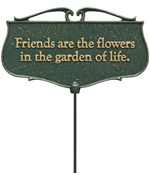 Garden Poem Sign - Friends are the Flowers
