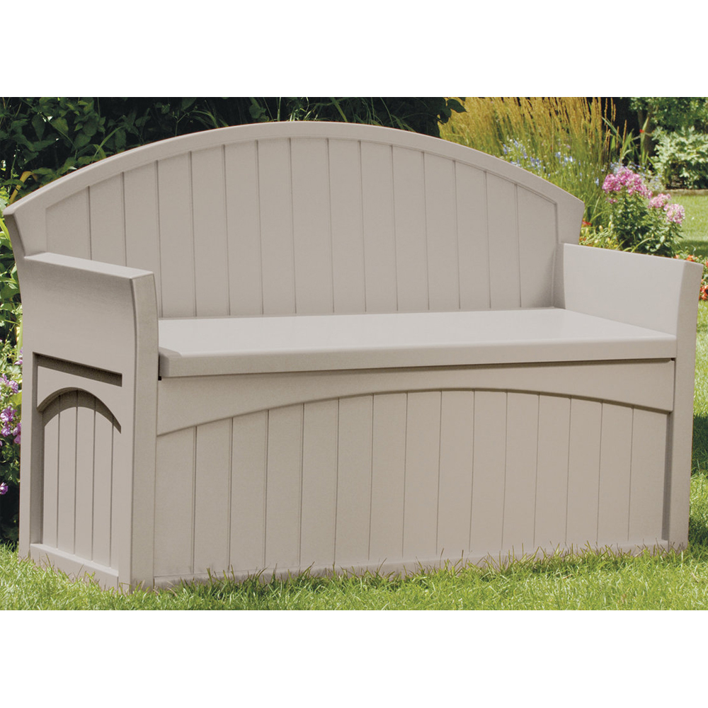 Garden Storage Bench In Outdoor Benches