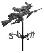 Garden Weathervane - Flying Witch