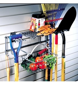 Garden Rack with Removable Basket Image