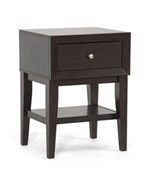 Gaston Brown Modern Accent Table and Nightstand by Wholesale Interiors