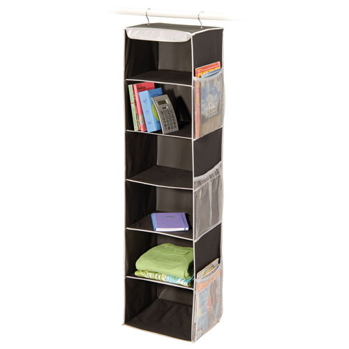 Black Denier Six-Shelf Closet Organizer Image