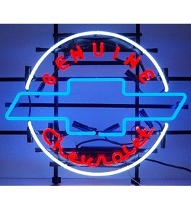Geniune Chevrolet Heritage Emblem Neon Sign by Neonetics Image