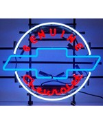 Geniune Chevrolet Heritage Emblem Neon Sign by Neonetics