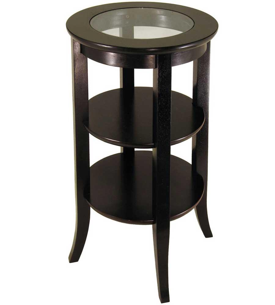 genoa end table with shelves in side tables. Black Bedroom Furniture Sets. Home Design Ideas