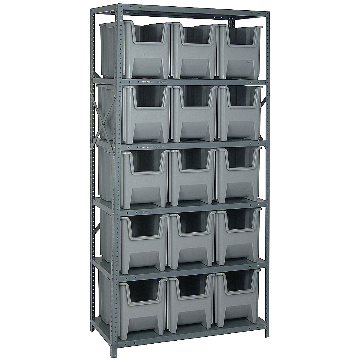Pvc Storage System : Industrial storage shelf bin in plastic bins
