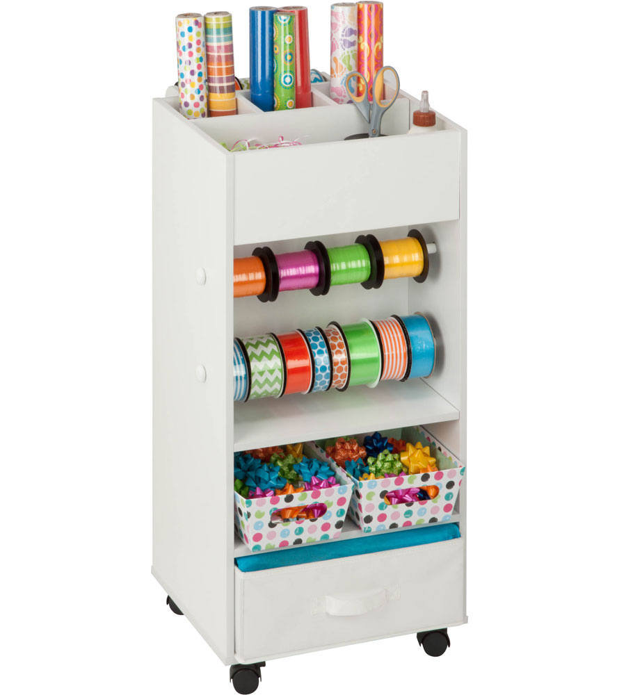 Gift Wrap Cart In Gift Wrap Organizers