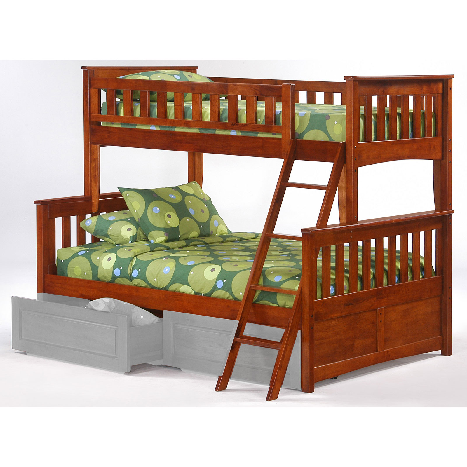 Ginger Twin Over Full Bunk Bed By Night And Day Furniture In Bunk Beds