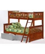 Ginger Twin over Full Bunk Bed by Night and Day Furniture