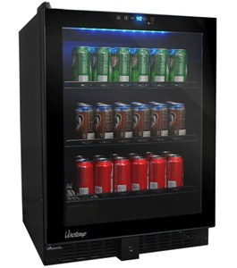 Glass Door Beverage Refrigerator Image