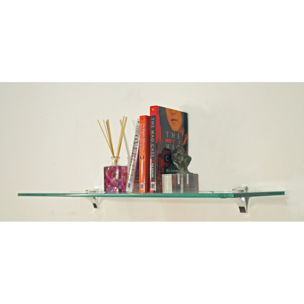 Glass Floating Shelf 10 Inch Deep In Wall Mounted Shelves