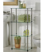 Glass Four Tier Tower by Convenience Concepts