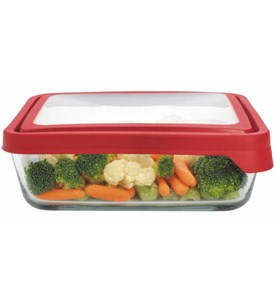 Glass Storage Container - Rectangular - 11 Cup Image