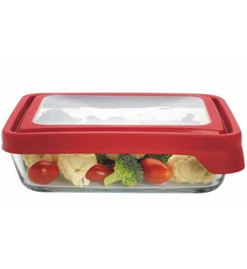 Glass Storage Container - Rectangular - 6 Cup Image