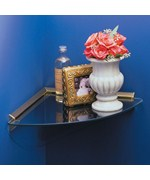 Glass Corner Shelf Kit - Brass