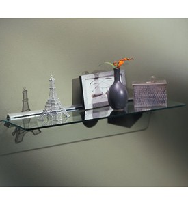8 x 24 Glass Display Shelf Kit - Chrome Image