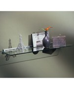 8 x 24 Glass Display Shelf Kit - Chrome