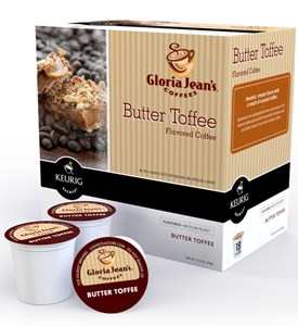 Gloria Jeans Coffee Butter Toffee K-Cups (Set of 18) Image
