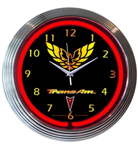 GM Trans AM Neon Clock Image
