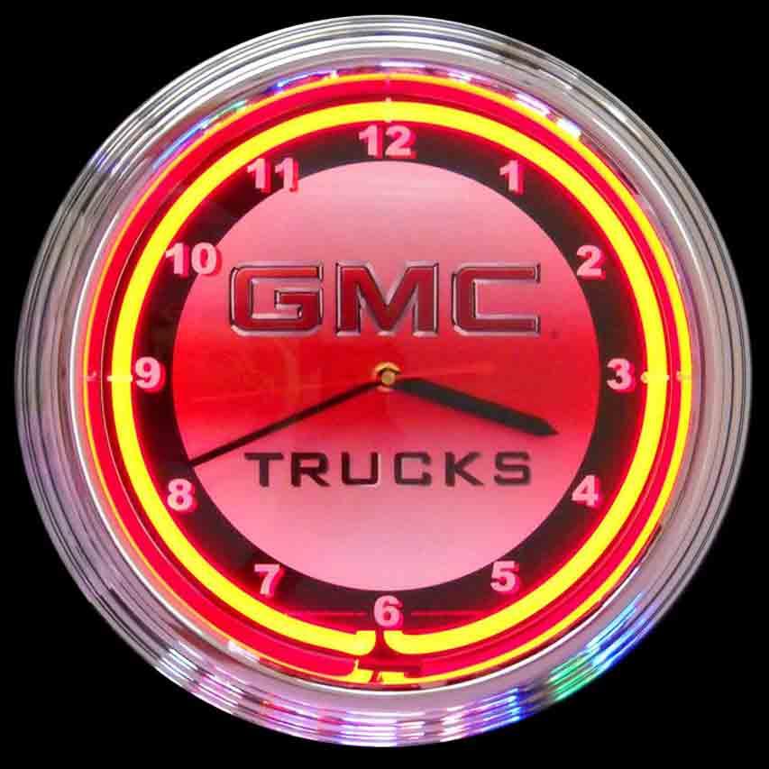 GMC Truck Neon Clock by Neonetics in Wall Clocks