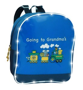 Going to Grandma's Light Up Train Backpack Image