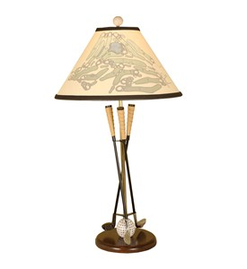Golf Club Table Lamp with Silhouette Shade by Passport Furniture Image