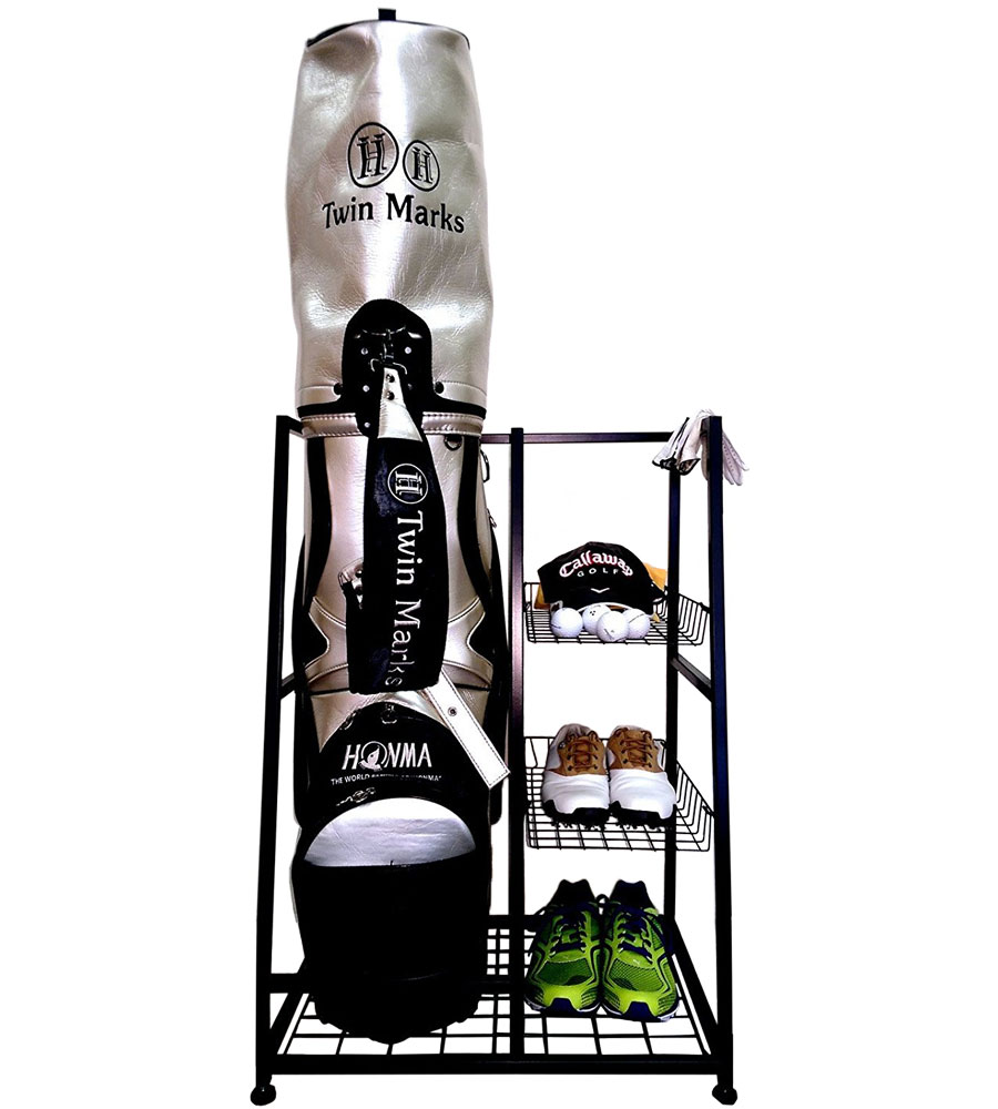 Golf Bag Storage Stand In Sports Equipment Organizers