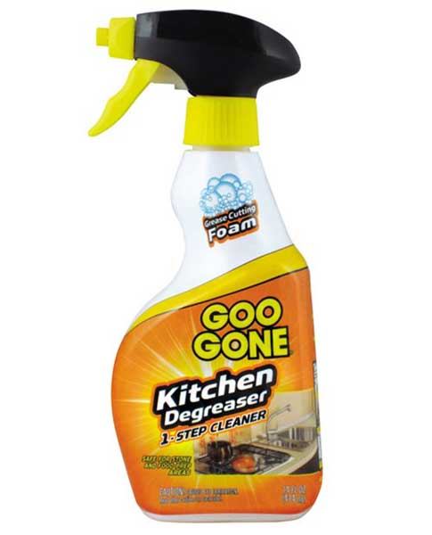 Goo gone kitchen degreaser in household cleaning products for Cleaning products for kitchen