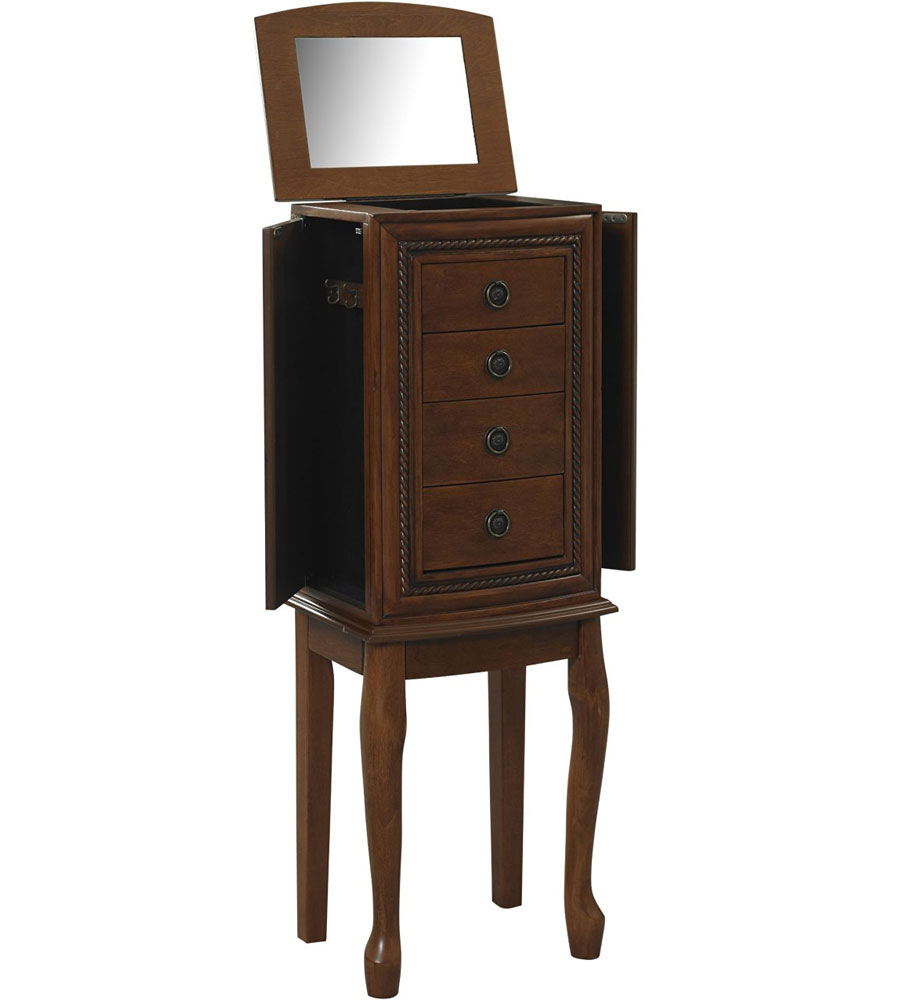 armoire jewelry box in jewelry armoires. Black Bedroom Furniture Sets. Home Design Ideas
