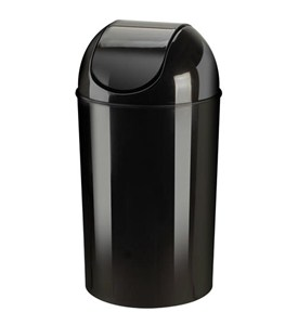 Umbra Kitchen Swing-Top Trash Can - Black Image