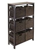 Granville Storage Shelf with 6 Foldable Baskets by Winsome