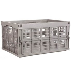 Collapsible Storage Crate - Gray Image