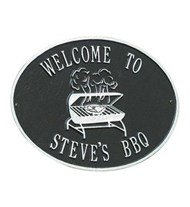 Hawthorne Personalized Grill Plaque Image