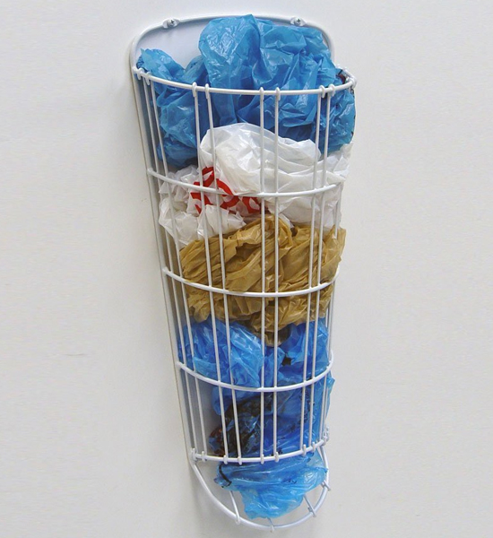 Grocery Bag Dispenser In Recycling Bins