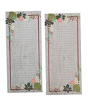 Grocery List Notepad - Vintage Flowers