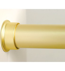 Custom Size Closet Rod - Brushed Gold Image