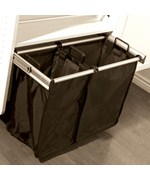 24 Inch Pull-Out Double Laundry Hamper