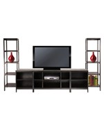 Hailey 5-Piece Set - TV Stand with 2 5-Shelf Towers and 2 Media Stands