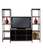 Hailey TV Stand and 2 Tower Shelf 3-Piece Set