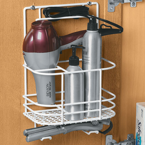 Hair care rack in hair dryer holders for Bathroom organizers