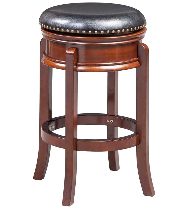 Hamilton 29 Inch Swivel Stool In Wood Bar Stools