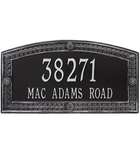Hamilton Wall Address Plaque - Two Line Image
