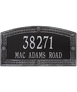 Hamilton Wall Address Plaque - Two Line