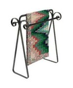Hammered Steel Quilt Rack