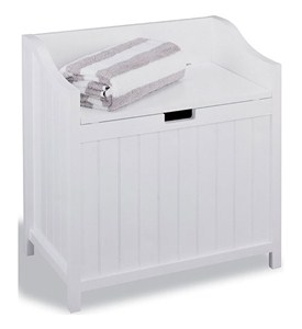 Bench Hamper - White Image