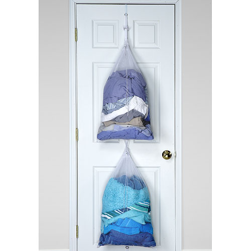 Two Bag Over The Door Laundry Sorter Image