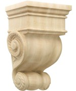 Hand Carved Wood Corbel - Americana